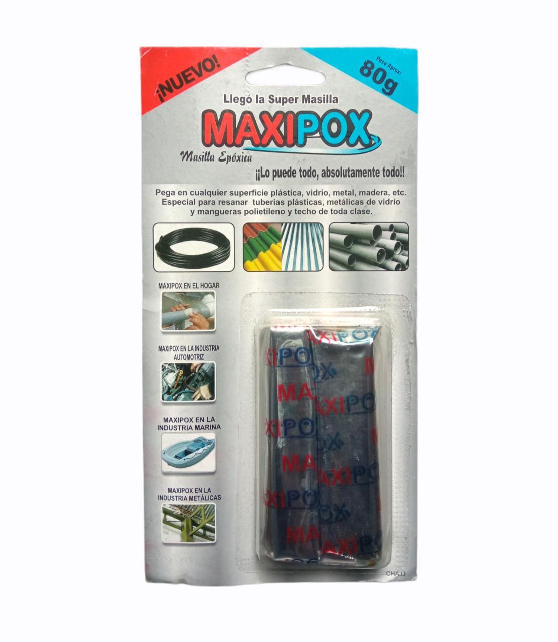 Masilla Epoxica Maxipox 80 gramos-silika