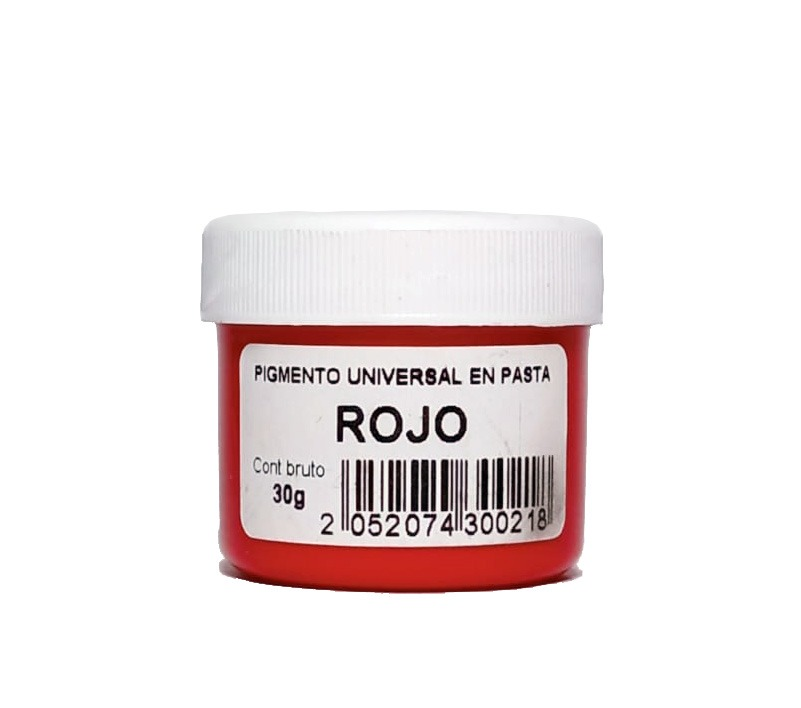 Pigmento Universal en Pasta Rojo 30gr