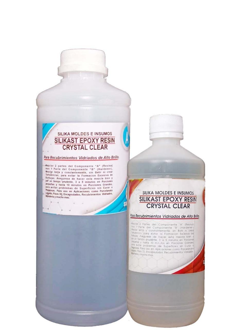 Resina Silikast Epoxy Cristal 1500 ml SECADO NORMAL