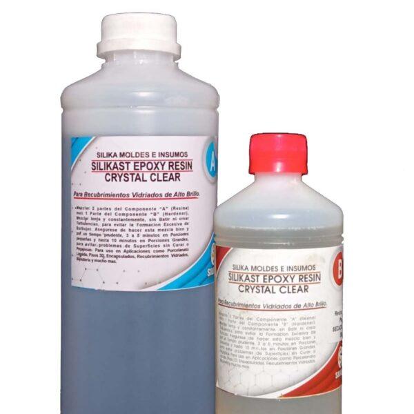 Resina Silikast Epoxy Cristal 1500 ml Secado Rápido