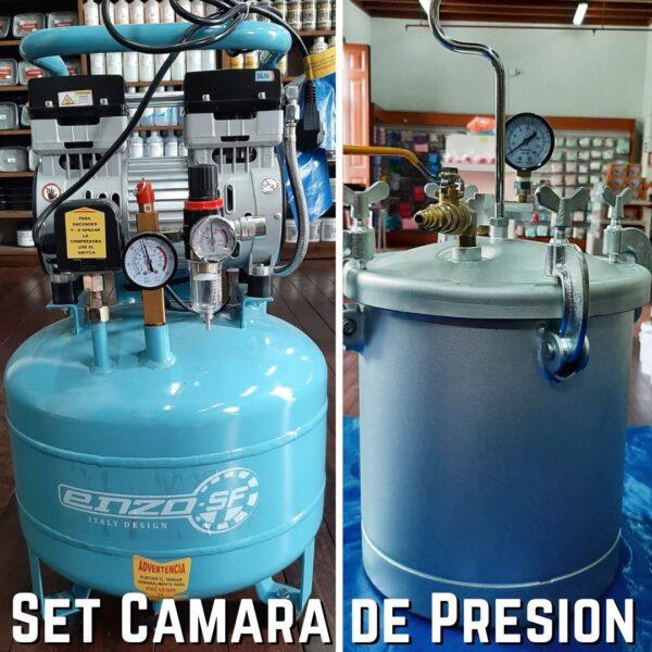 Set Camara de Presion 2.5 glns.