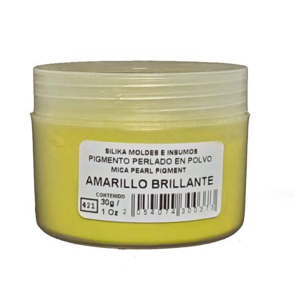 Pigmento Perlado en Polvo 30 gr Amarillo Brillante