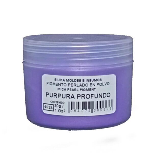 Pigmento Perlado en Polvo 30 gr Purpura Profundo