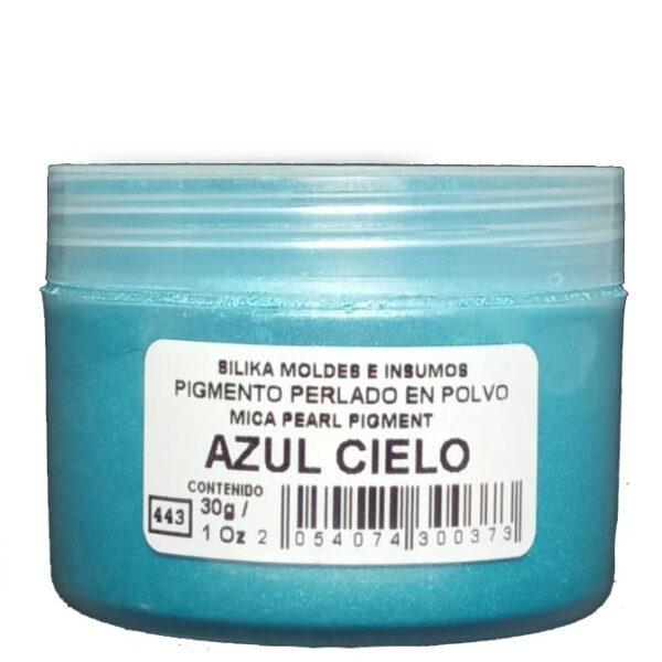 Pigmento Perlado en Polvo 30 gr Azul Cielo
