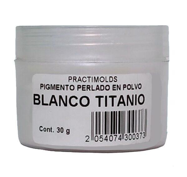 Pigmento Perlado en Polvo 30 gr BlancoTitanio