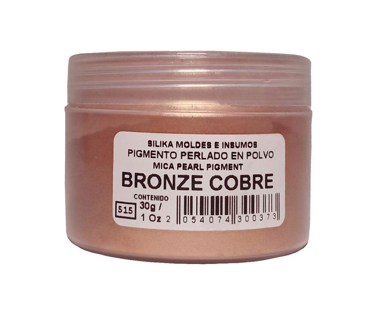 Pigmento Perlado en Polvo 30 gr Bronce Cobre