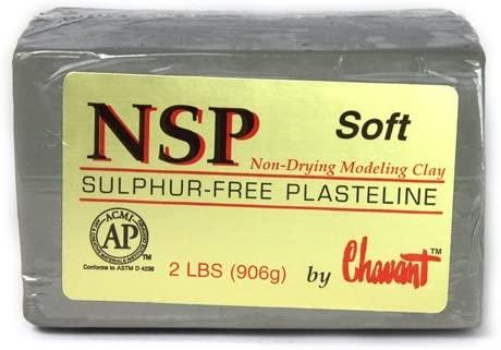 Plastilina Chavant NSP Soft Verde