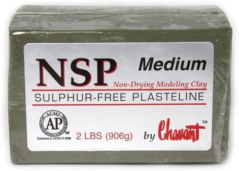 Plastilina Chavant NSP Medium Verde
