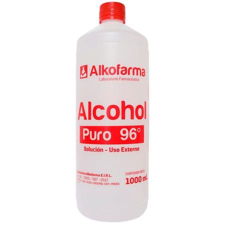 Alcohol 96 Botella 1 Litro