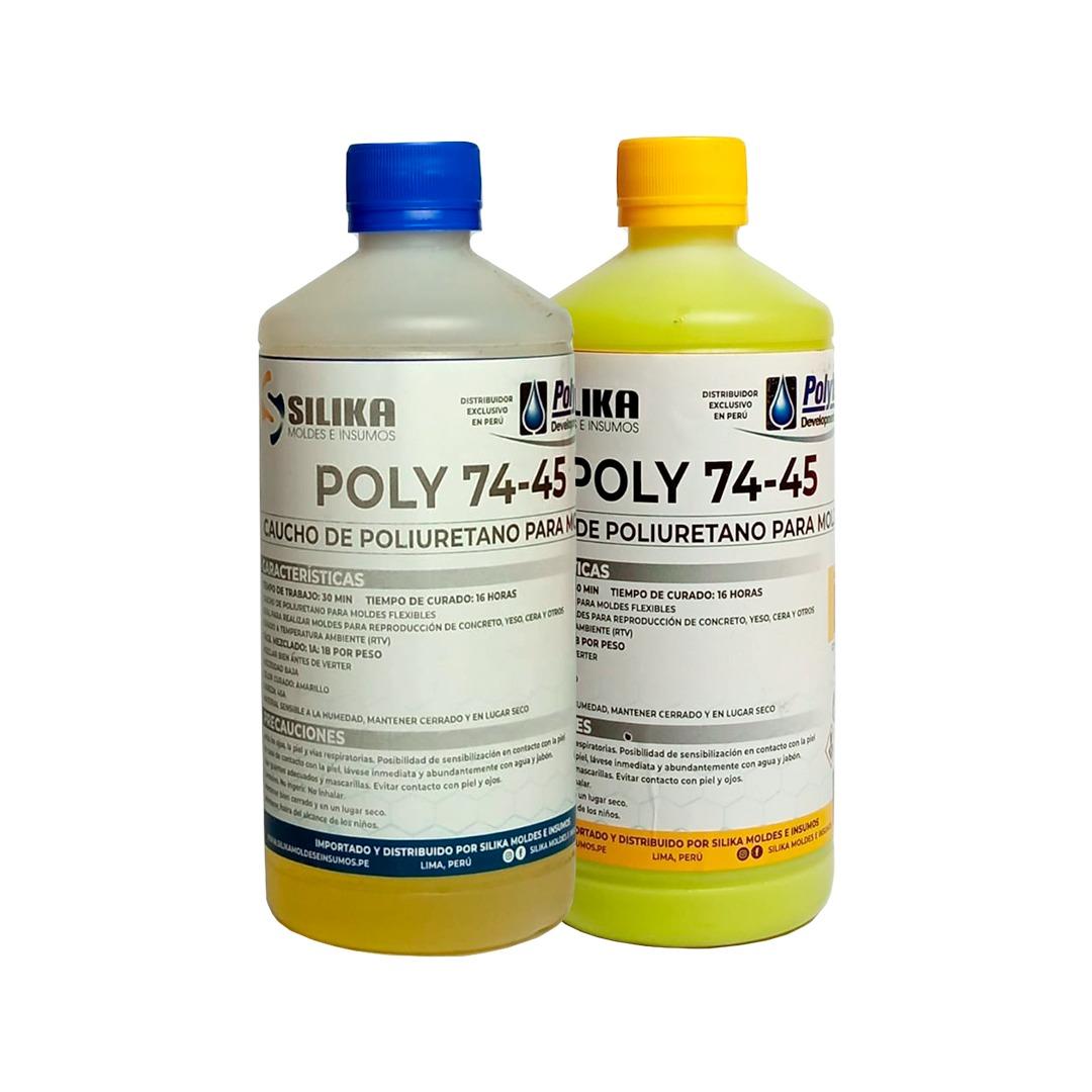 Caucho de Poliuretano Poly 74-45 1Kg