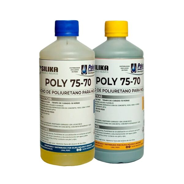 Caucho de Poliuretano Poly 75-70 1Kg