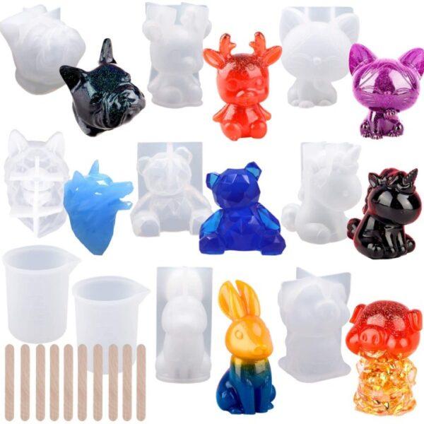 Kit Moldes para Resina Animales en 3D